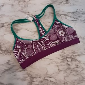 ATHLETA multicolored pattern sports bra SzeM